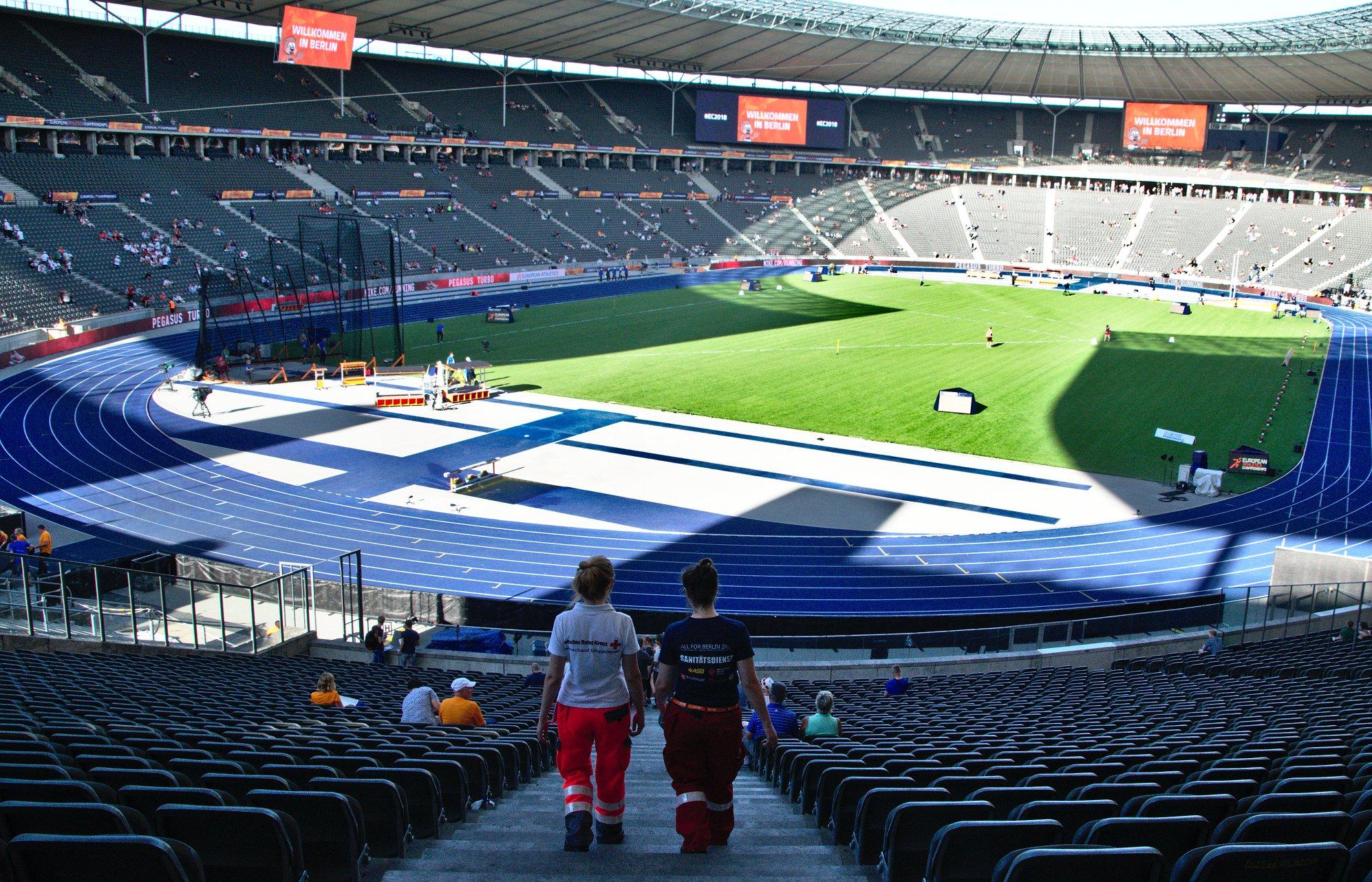 Zu Gast im Olympiastadion Berlin!